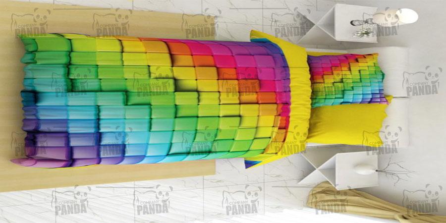 تولید روتختی های یک نفره سه بعدی